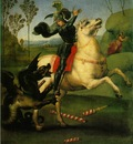 Raffaello St  George Fighting the Dragon, 1505, 30x26 cm, Lo