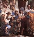 Raffaello Stanze Vaticane The School of Athens detail [03]