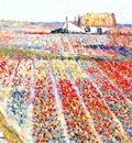 raphael tulip fields of noordwijk c1912