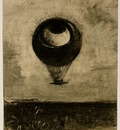 Redon Eye Balloon, 1878, Charcoal, 42 5x33 2 cm, The Museum