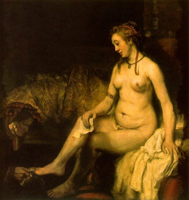 rembrandt bathsheba at her bath 1654 louvre bredius