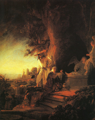 REMBRANDT CHRIST APPEARING TO MARY MAGDALEN 1638 BUCKINGHAM