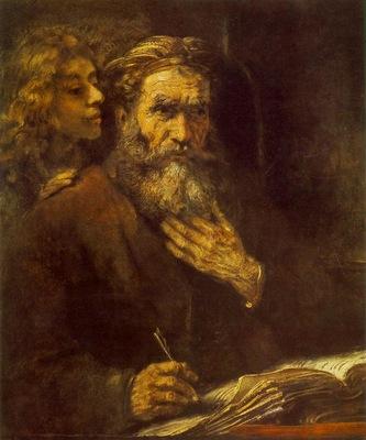 rembrandt evangelist matthew 1661 louvre bredius