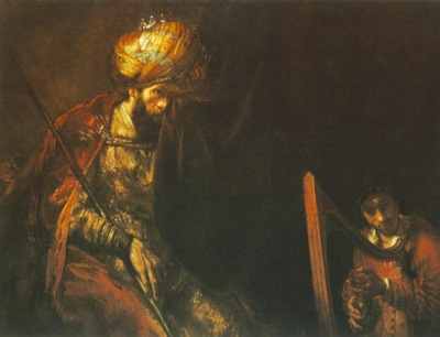REMBRANDT SAUL AND DAVID 1655 60 MAURITSHUIS, THE HAGUE