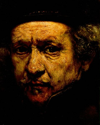 REMBRANDT SELF PORTRAIT 1659 DETALJ NG WASHINGTON