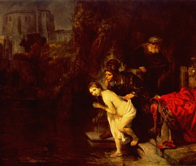 REMBRANDT SUSANNA IN THE BATH, 1647 GEMALDEGALERIE BERLIN Br