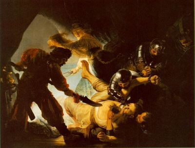REMBRANDT THE BLINDING OF SAMSON 1636 STADELSCHES KUNSTINSTI
