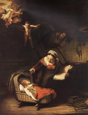 REMBRANDT THE HOLY FAMILY 1645 EREMITAGET