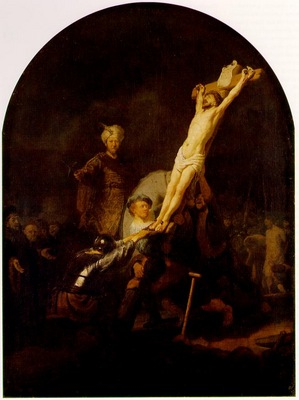REMBRANDT THE RAISING OF THE CROSS C 1633 ALTE PINAKOTHEK MU