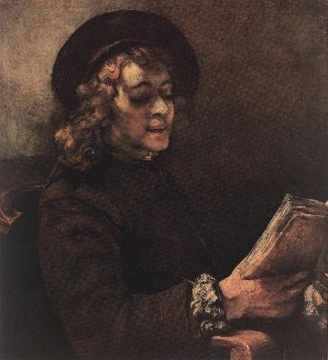 REMBRANDT TITUS READING 1656 Kunsthistorisches Museum Wien B