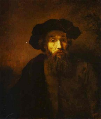Rembrandt A Bearded Man in a Beret