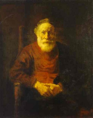 Rembrandt An Old Man in Red
