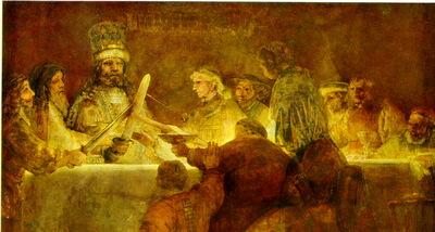 Rembrandt Batavernas trohetsed 1661 62, 196x309 cm, National