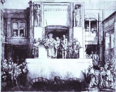 Rembrandt Christ Shown to the People