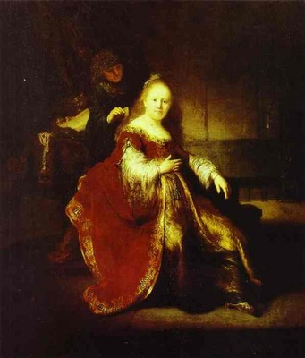 Rembrandt Esther Preparing to Intercede with Assuerus