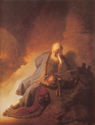 Rembrandt Jeremais Lamenting the Destruction of Jerusalem
