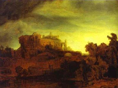 Rembrandt Landscape with a Castle