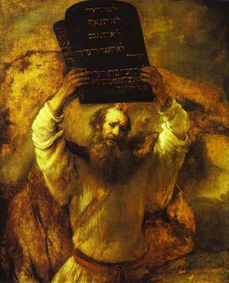 Rembrandt Moses Smashing the Tables of the Law