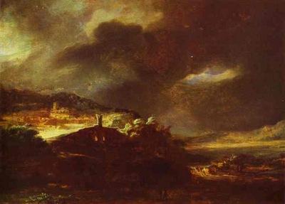 Rembrandt Paysage DOrage