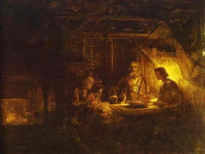 Rembrandt Philemon and Baucis