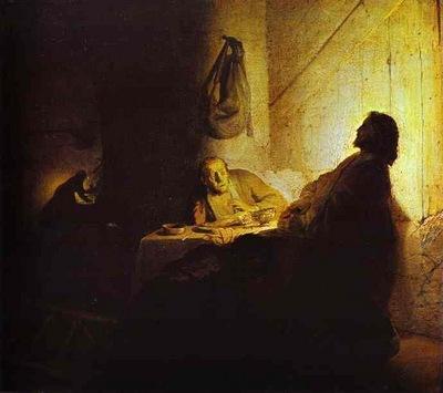 Rembrandt Pilgrims at Emmaus