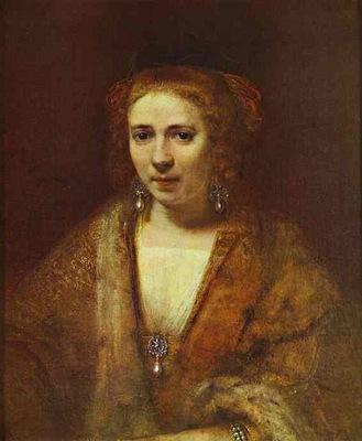 Rembrandt Portrait of Hendrickje Stoffels