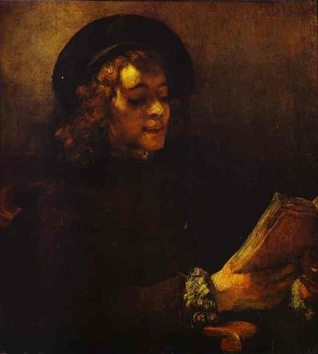 Rembrandt Portrait of Titus Reading