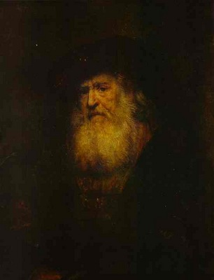 Rembrandt Portrait of a Bearded Man in Black Beret