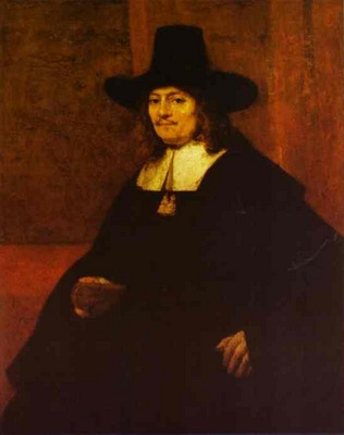 Rembrandt Portrait of a Man in a Tall Hat