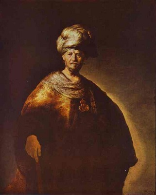 Rembrandt Portrait of a Noble Oriental Man