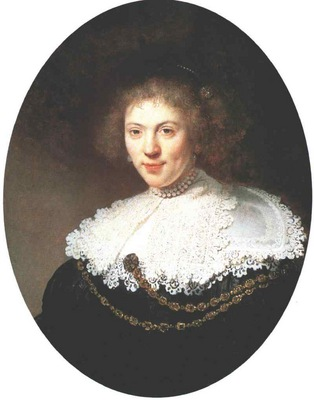 Rembrandt Portrait of a Woman Wearing a Gold Chain, 1634, Oi