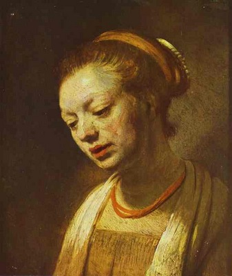 Rembrandt Portrait of a Young Girl
