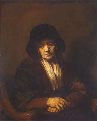 Rembrandt Portrait of an Old Woman, 1654, 109x84 cm, Eremita