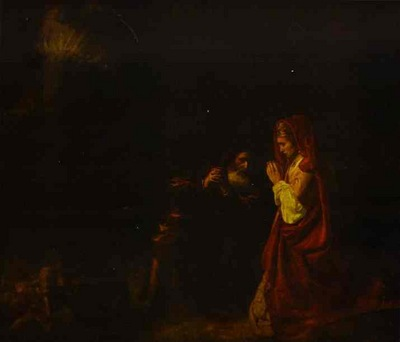 Rembrandt Sacrifice of Manoah