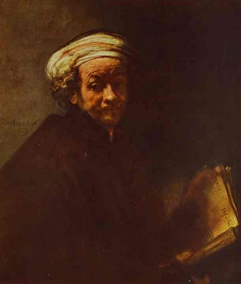 Rembrandt Self Portrait as St  Paul