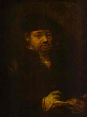 Rembrandt Self Portrait with a Sketch Book
