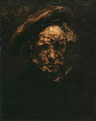 Rembrandt Selfportrait, study, 1660, Musee Granet Aix en Pro