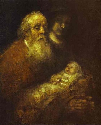 Rembrandt Simeon with the Christ Child in the Temple