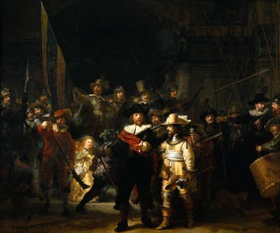 Rembrandt The Company of Frans Banning Cocq and Willem van Ruytenburch known as the Night Watch