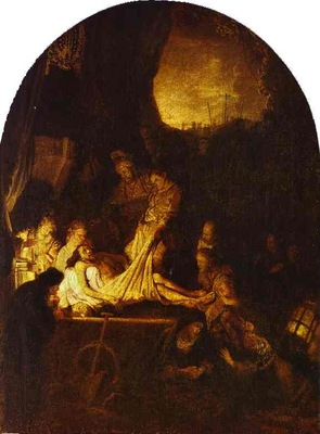 Rembrandt The Entombment