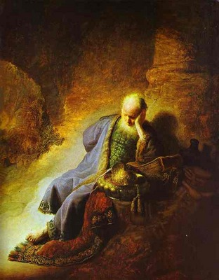 Rembrandt The Prophet Jeremiah Mourning over the Destruction of Jerusalem