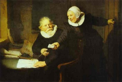 Rembrandt The Shipbuilder Jan Rijcksen and His Wife Griet Jans