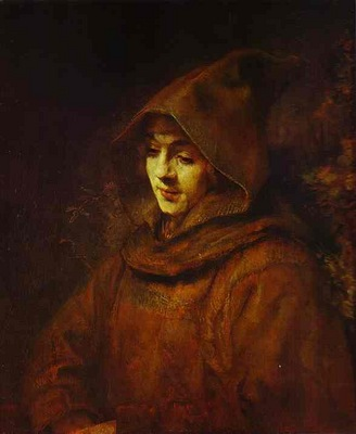 Rembrandt Titus in a Monk Habit