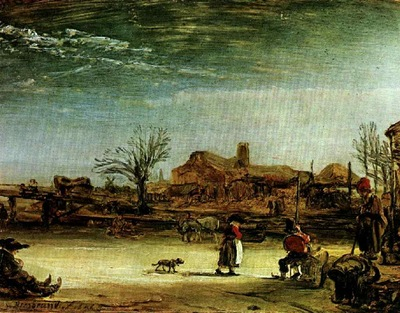Rembrandt Winter scene, 1646, Oil on canvas, Staatlische Gem