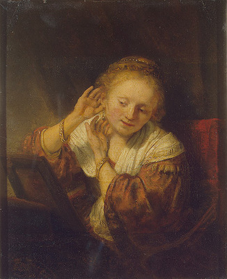 Rembrandt Young Woman with Earrings, 1657, 39 5x32 5 cm, Ere