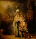 REMBRANDT DAVID AND JONATHAN 1642 EREMITAGET
