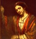 REMBRANDT HENDRICKJE STOFFELS IN THE WINDOW 1656 57 Gemaldeg