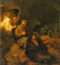 REMBRANDT THE DREAM OF ST JOSEPH 1650 55 MUSEUM OF FINE ARTS