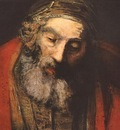 REMBRANDT THE RETURN OF THE PRODIGAL SON DETALJ 1 CA 1662 ER