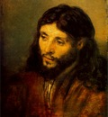 REMBRANDT YOUNG JEW AS CHRIST CA 1656 STAATLICHE MUSEEN BERL